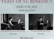A Concert for the Feast of St. Benedict to be Streamed Live